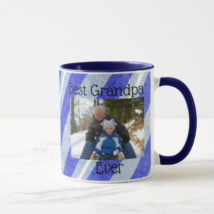Best Grandpa Ever Photo Personalized Photo Mug - home gifts ideas decor special unique custom individual customized individualized