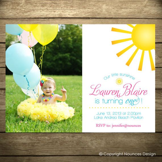 You Are My Sunshine Invitation  Printable File  DIY by nounces