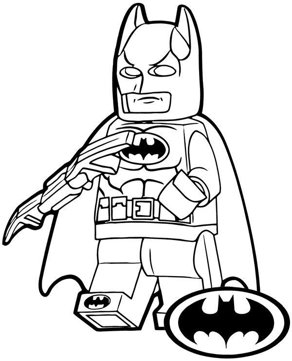 Kolorowanka Dla Dziecko Ludzik Lego Batman Ludzik Lego Lego