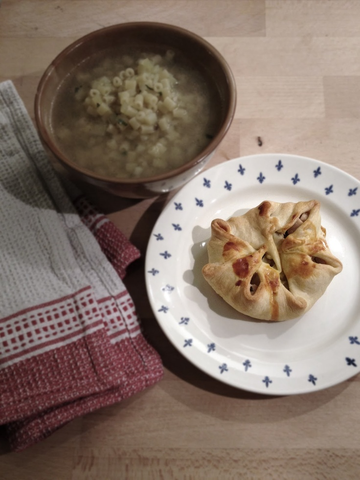 Fagottino di pollo e patate in pasta brisée