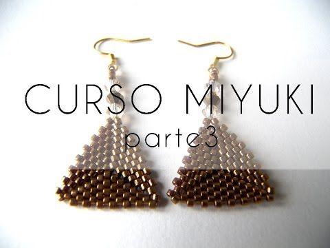 ▶ Curso Abalorios - Tecnicas con Miyuki ( Hacer un triangulo ) - 3ª parte - YouTube