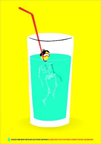"UMSL Presents International Poster Art Exhibition | ""Clean Water"" by Adam Richter (Courtesy United Designs International Biennial Design Exhibition)"