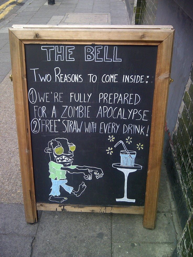 Pub Chalkboard Of The Day