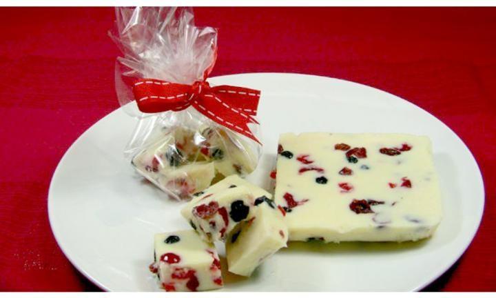 White Christmas fudge