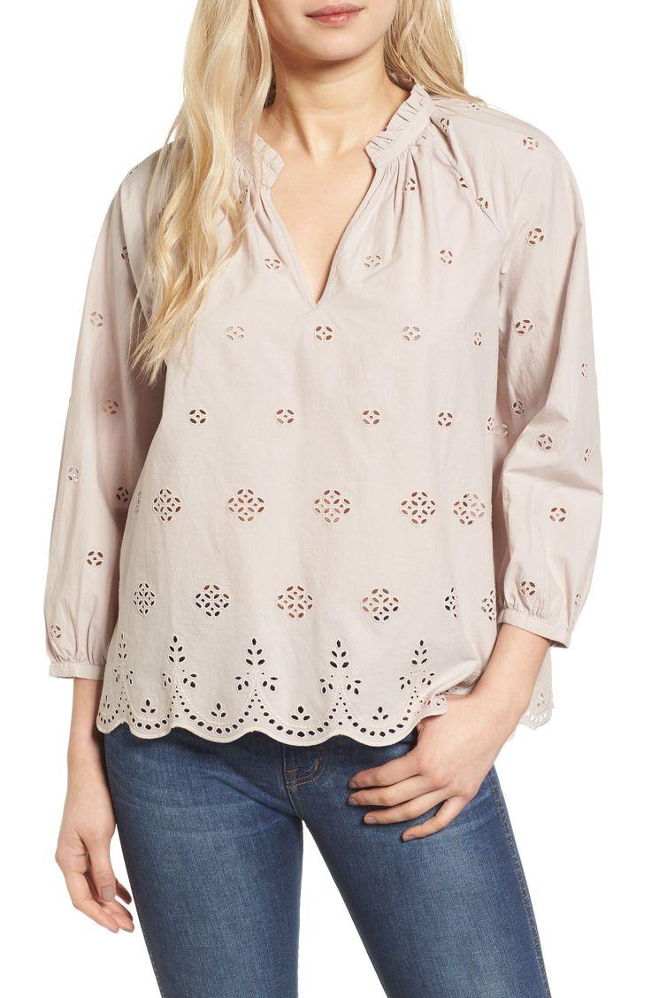 madewell eyelet blouse