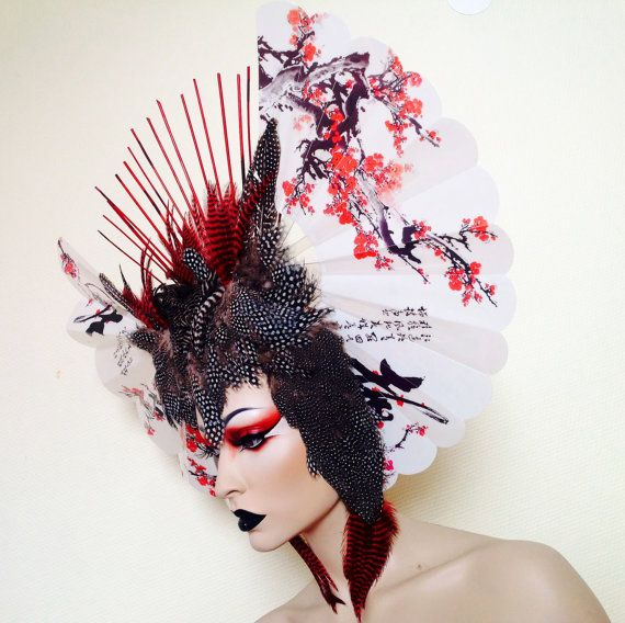 Ready To Ship Geisha Owl Cherry Blossom By