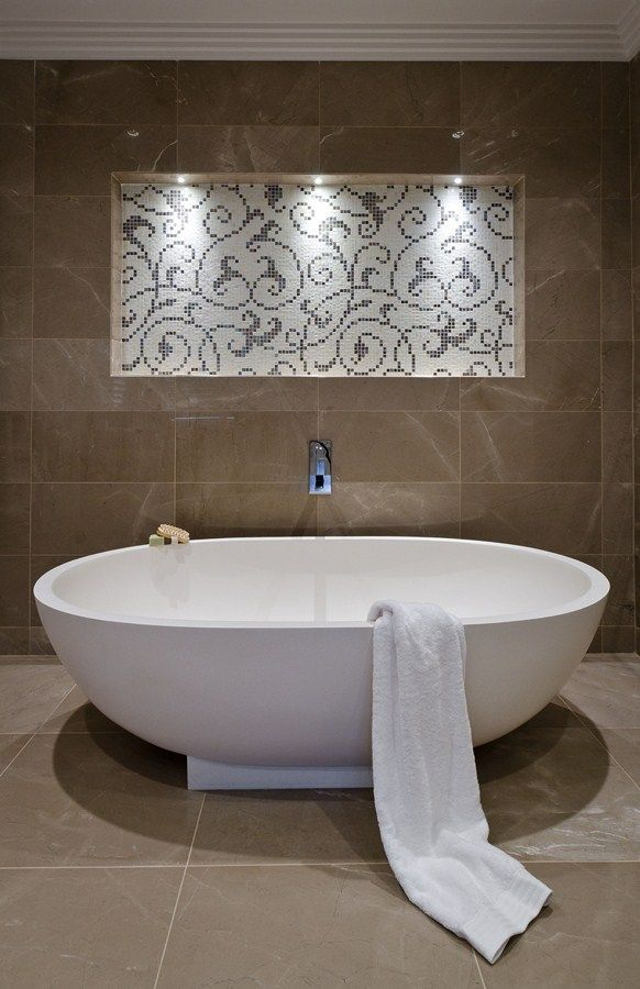 contemporary modern freestanding bath ensuite