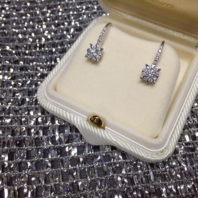 Orecchini a monachella in oro bianco con diamanti 0,49ct G VS - MIRCO VISCONTI - Cicala.it