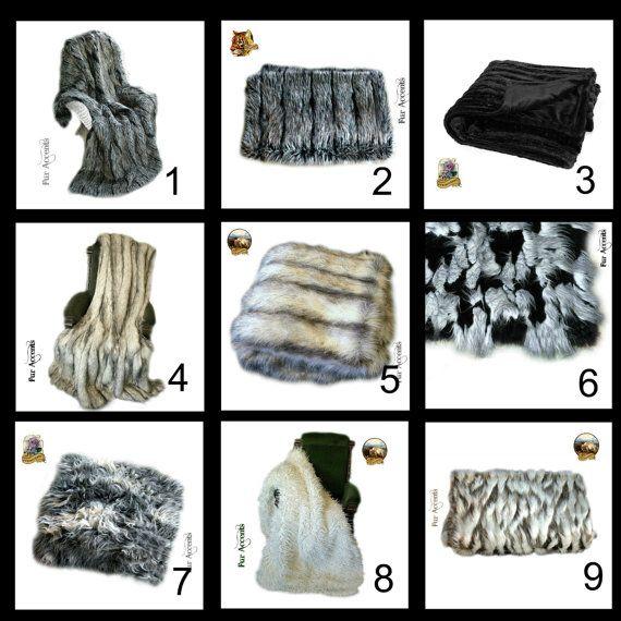 Internet Close Out Special - Plush Premium Faux Fur Luxury Throw Blanket - w/ Minky Cuddle Fur Lining - 40''x60'' - Request Custom Sizes