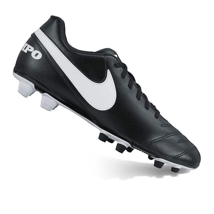 Nike Tiempo Rio III Firm-Ground Men's Soccer Cleats, Size: 11.5, Grey (Charcoal)