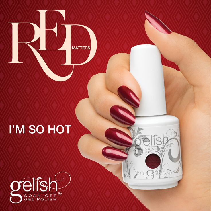 Gelish I'm so Hot from the Red Matters Collection. Available now on auswax.com.au