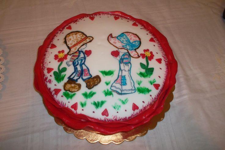 Torta dipinta a mano