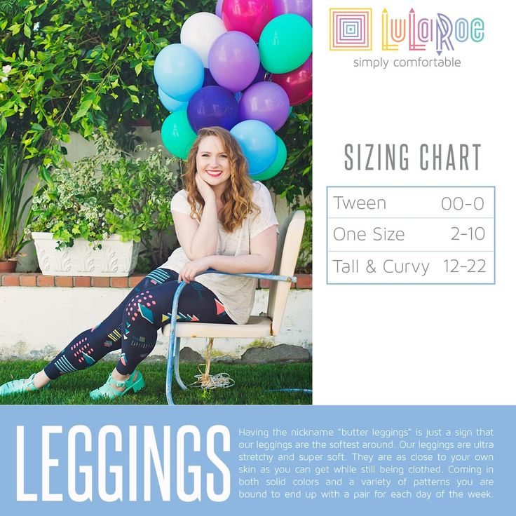 LuLaRoe Leggings Sizing Chart, Size Chart for Tween, One Size and Tall and Curvy