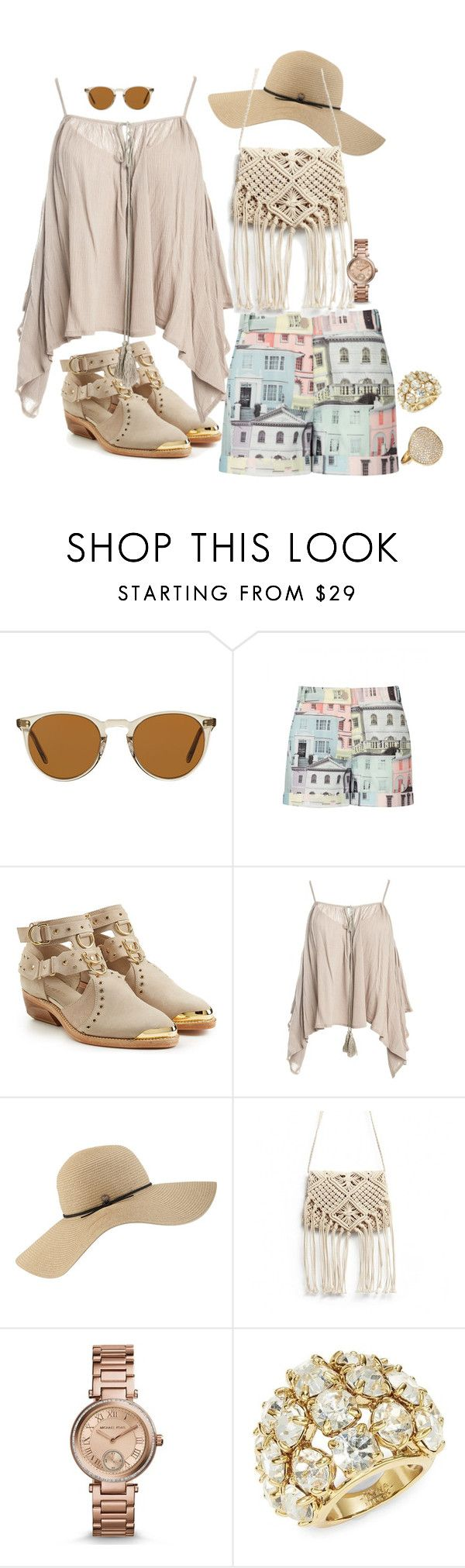 """""""#hautw- hot- trends.com / Back At Ya"""" by blujay1126 ❤ liked on Polyvore featuring Oliver Peoples, Ted Baker, Balmain, Sans Souci, Coal, Michael Kors, Trina Turk and Ippolita"""