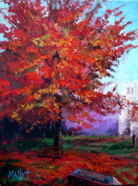 Timmy Mallett - Interests - Painting - Autumnal churchyard 2