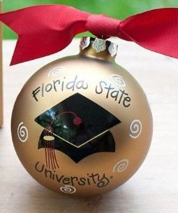 """Personalized Ornament Graduation Cap -Gift Ideas for College 3""""H"""