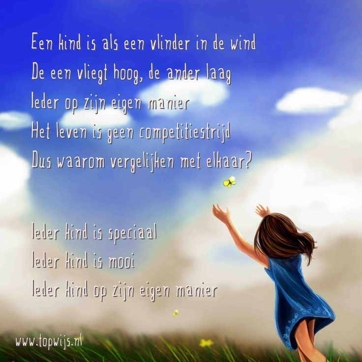Een kind is als een vlinder in de wind