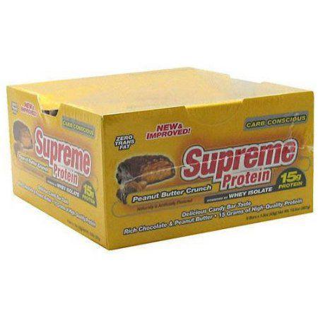 Supreme Protein Peanut Butter Crunch Quadruple Layer Protein Bars, 1.51 oz, 9 count