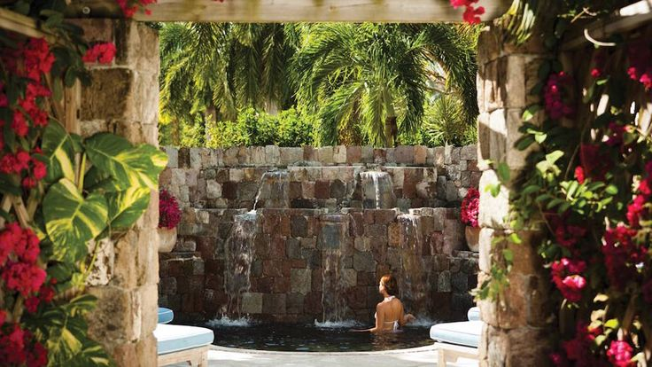 Four Seasons Resort Nevis    Set in view of Nevis Peak with Spa Gardens and Sala Deck-a Japanese cold plunge pool, a volcanic stone hot water pool and even a spa cuisine menu. Plus locally-inspired treatments