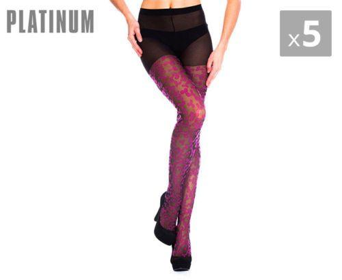5-x-Platinum-Blossom-Fashion-Tights-Black-Rose