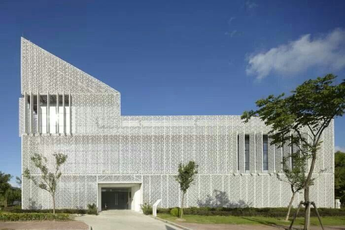 """GEL is a """"green"""" building dedicated to research activities on sustainable HVAC technologies, built inside the Minhang Campus of Shanghai Jiao Tong University."""