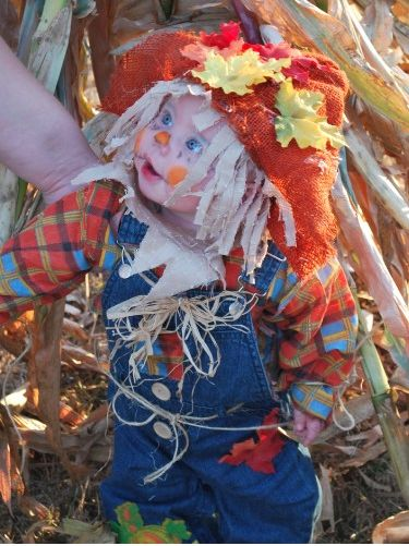 Last-Minute Baby Scarecrow Costume ... This website is the Pinterest of costumes
