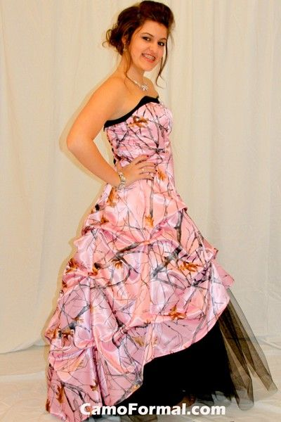 17 best images about camo homecoming on pinterest mums for Camo and pink wedding dresses