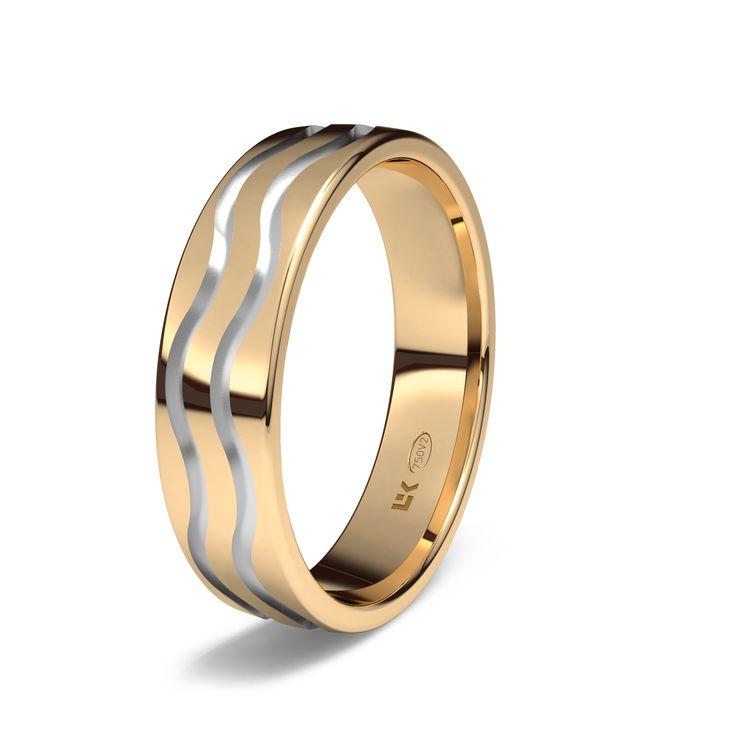Alianza de oro rojo de 18K modelo Mahon #bodas #alianzas #novia   cnavarro.com