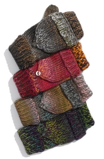 Brazen 'Rainbow' Knit Pop Top Mittens available at #Nordstrom
