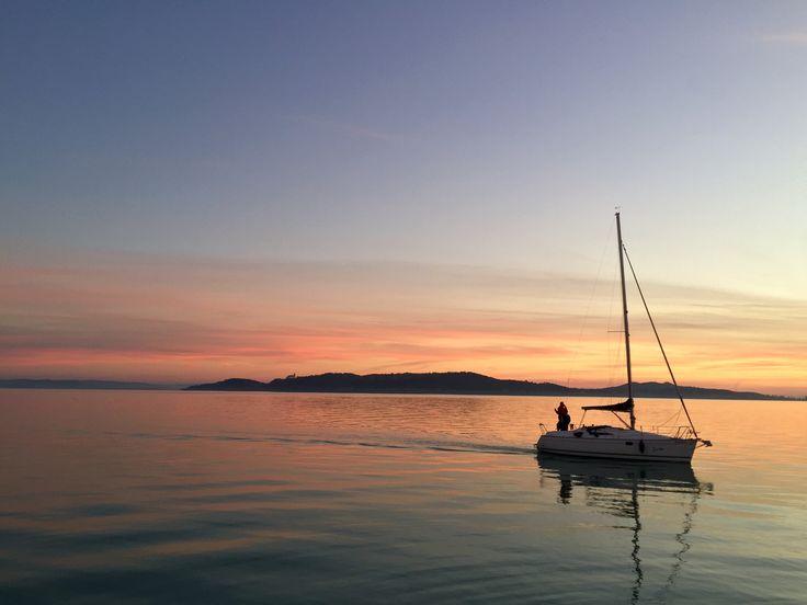 BALATONFÜRED, HUNGARY Lake Balaton sunset  Follow also www.voteltravels.com