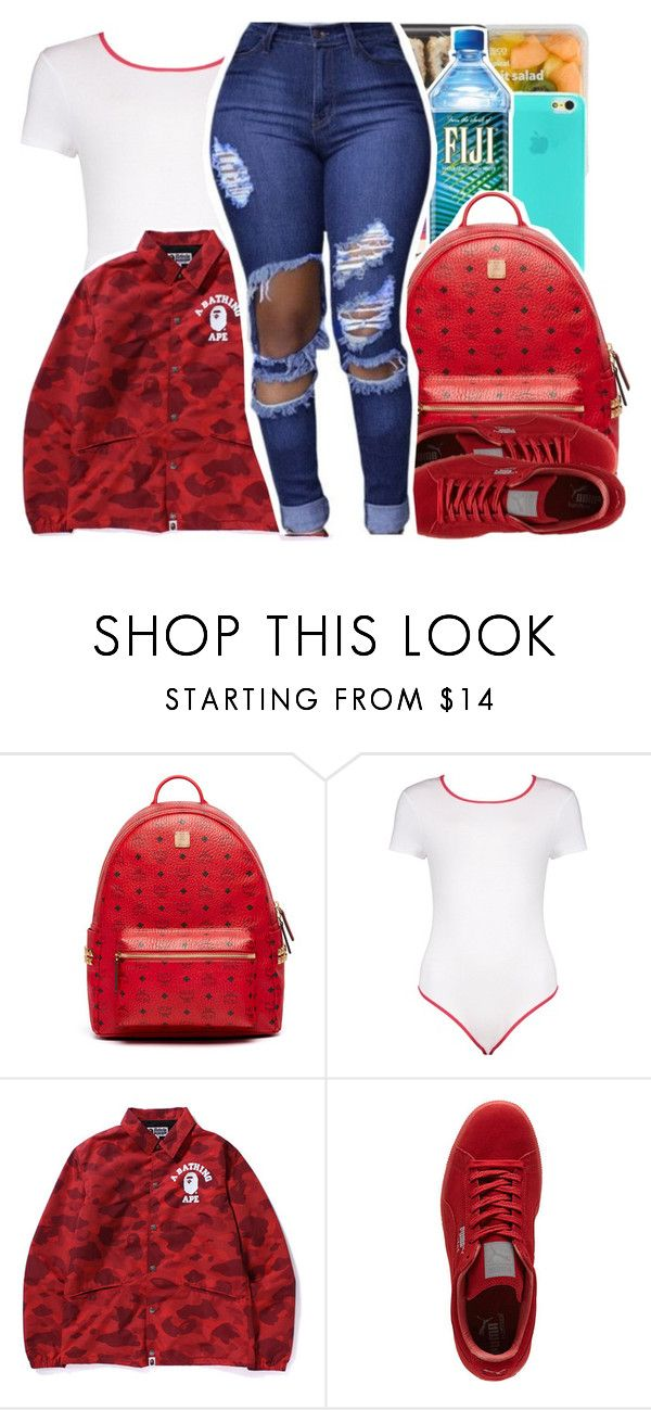 """"" by pinksemia ❤ liked on Polyvore featuring MCM, Boohoo and Puma"