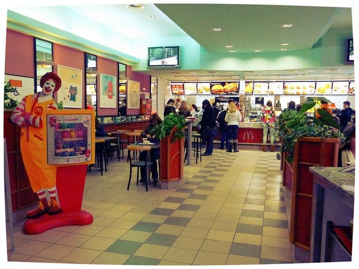 Brno (Czech Republic). McDonald's in Piazza della Libertà.