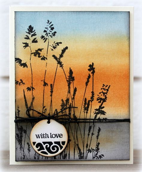 Penny Black Nature's Paint Brushes stamp