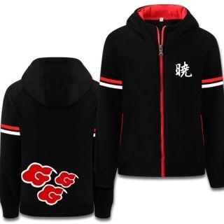 Naruto hoodies for men cosplay Uchiha Itachi Akatsuki black sweatshirts