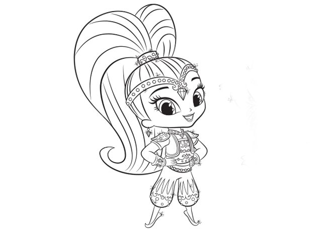 Nick Jr Coloring Pages Shimmer And Shine : Shine shimmer and coloring pages