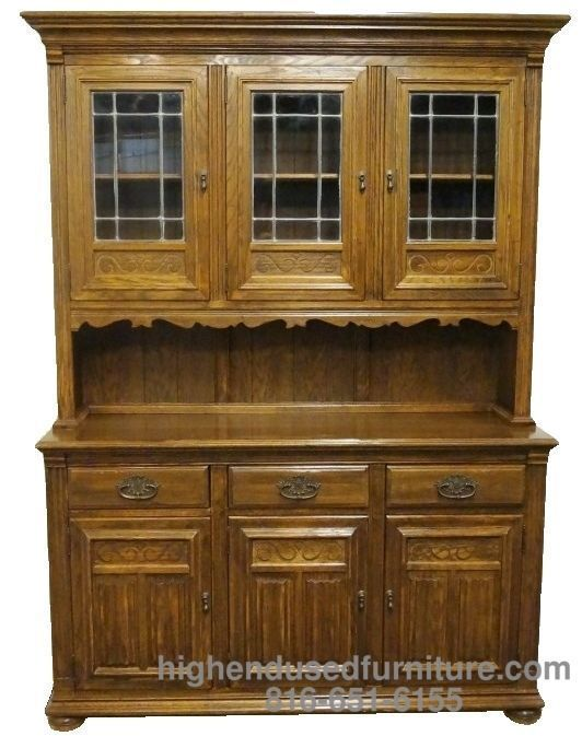 ETHAN ALLEN Royal Charter 56 Buffet W Leaded Glass China