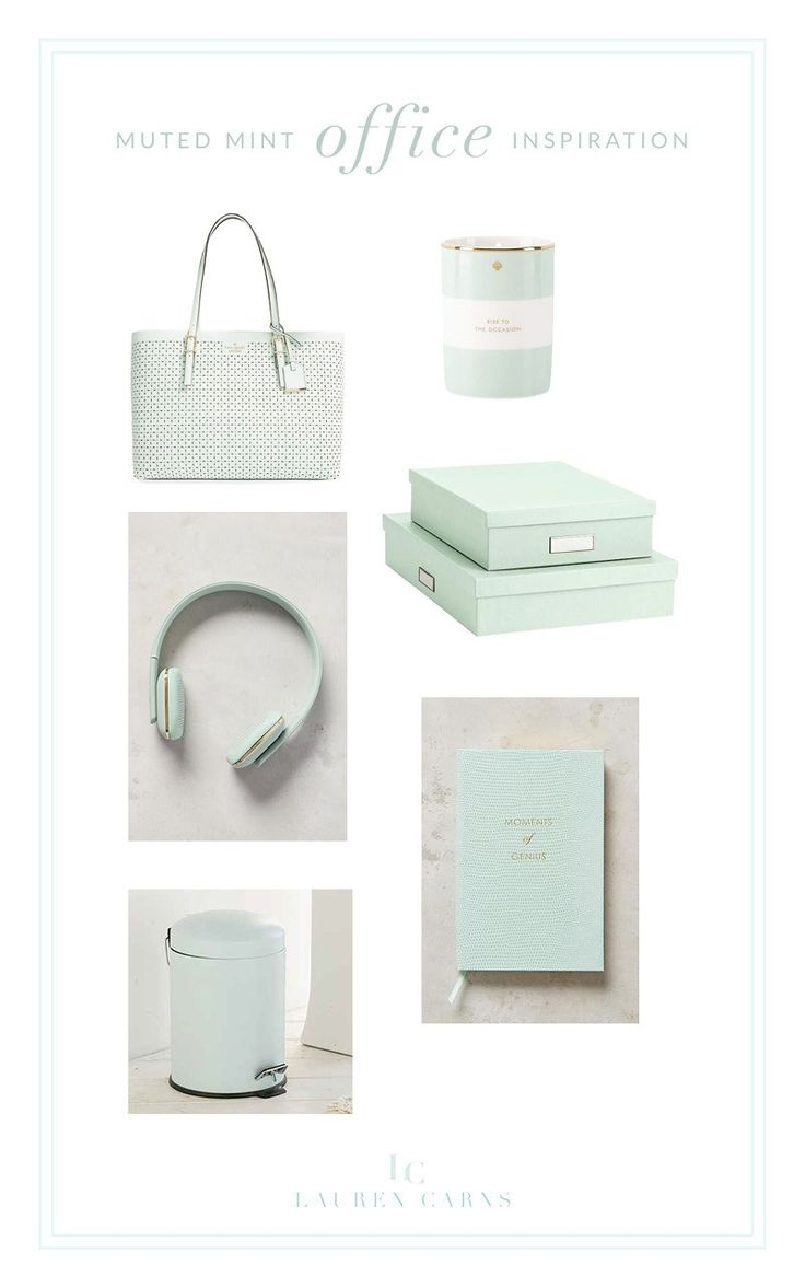 Muted Mint Office Inspiration
