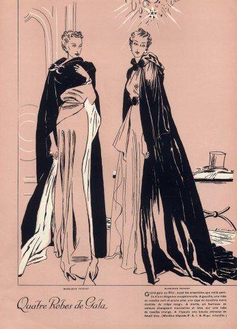 Madeleine Vionnet 1935 Evening Gown & Burnous Hotel Ritz Demachy