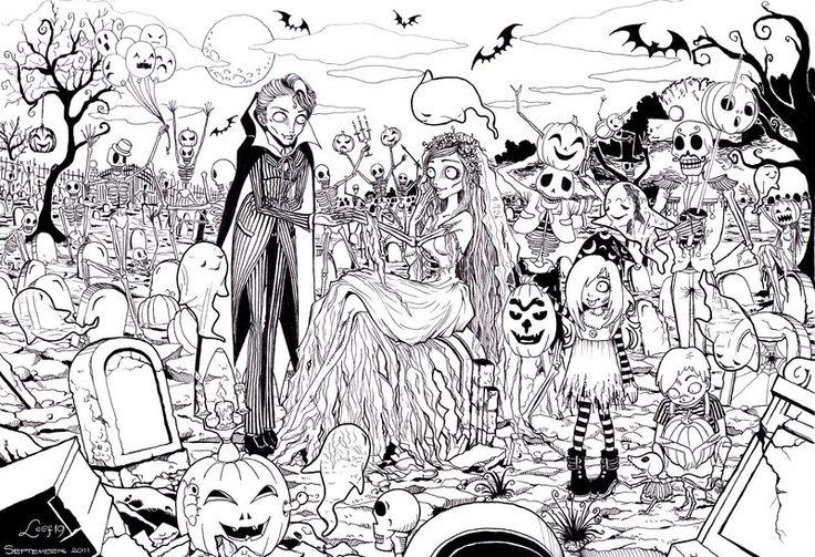 Ghosts Halloween Party by Leaf-19 @ deviantART
