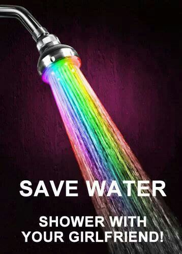 Save water, shower with your girlfriend #lesbianmoments