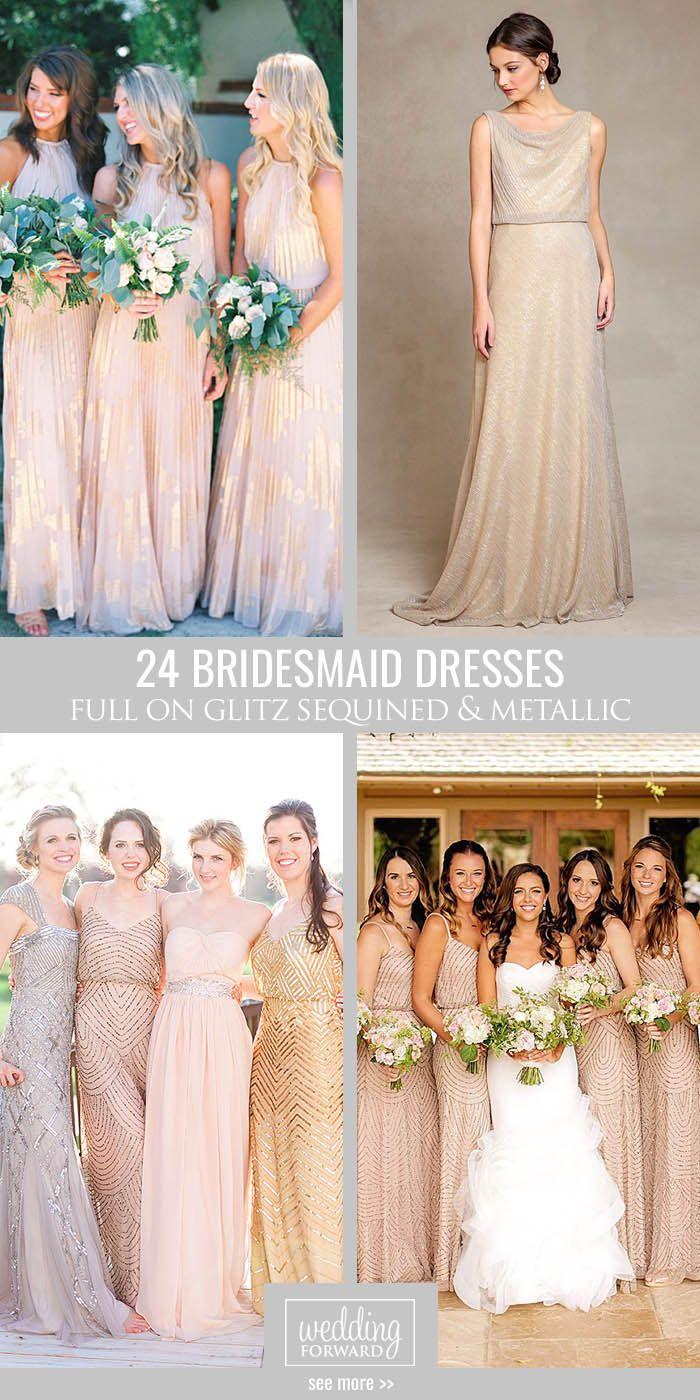 20 bronze bridesmaid dresses 24 full on glitz sequined metallic bridesmaid dresses we have totally fallen in love ombrellifo Choice Image