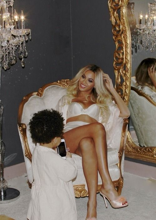 Queen Bey and her mini Bey.  Beyoncé and Blue Ivy