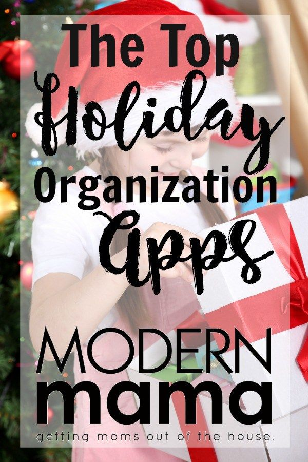The best apps for holiday organization. Favorite shopping tricks and tips for the busy Christmas season. ModernMama.com #organization #christmas #christmasorganization #christmasshopping #giftguide