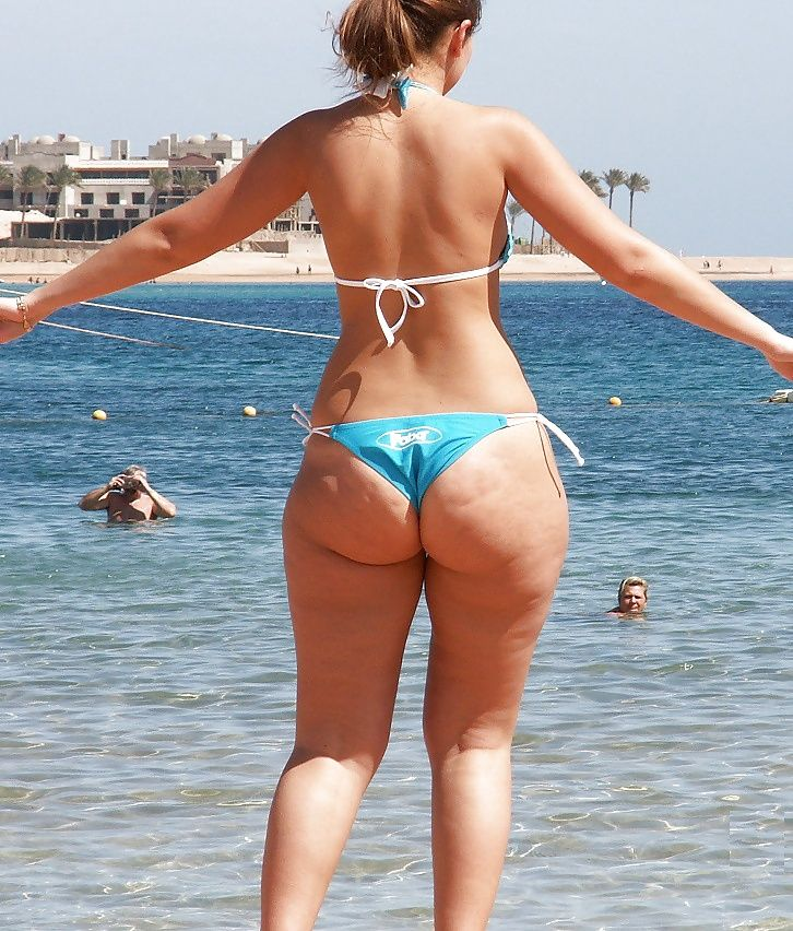 At girls beach ass
