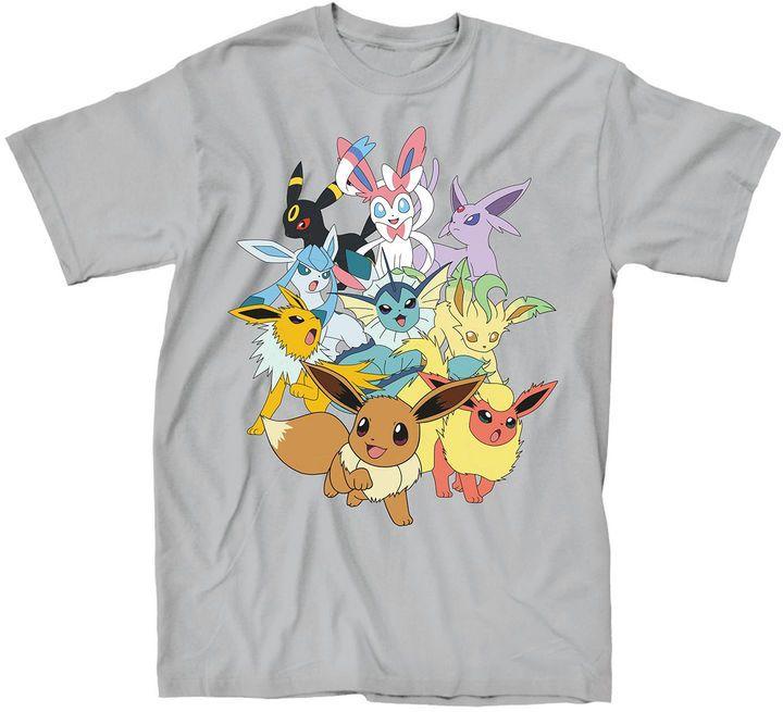 Novelty T-Shirts Pokemon Eevee Short-Sleeve Tee