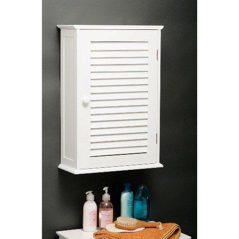 Custom Wooden Bathroom Wall Cabinet In White With 1 Door