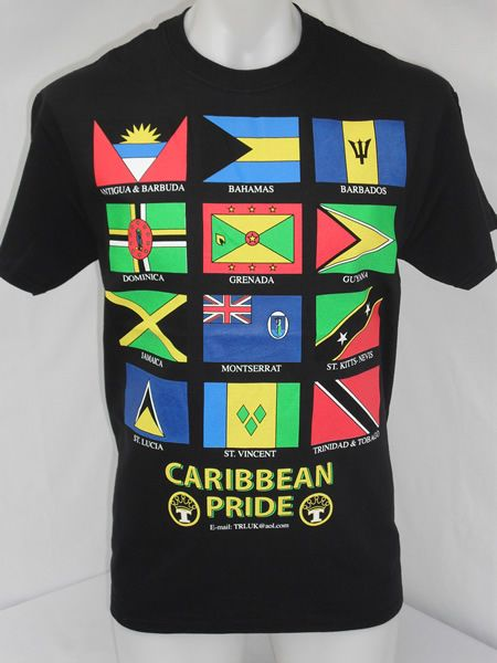 Caribbean T-Shirt http://www.rastaclothing.co.uk/t-shirts/caribbean-t-shirts/caribbean-pride-t-shirt   Omg I so want #guyana