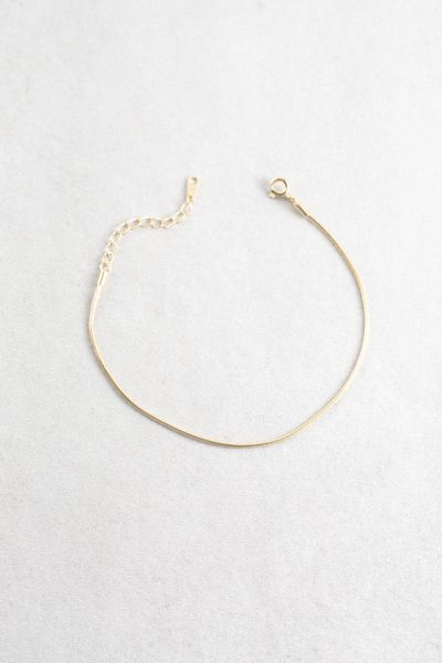 Allure The Mes Chain Bracelet 14k 18 Thin Gold In