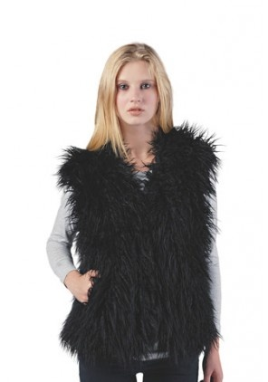Faux Fur is chic and sleek! Pair this vest with a chunky belt for a great holiday look!