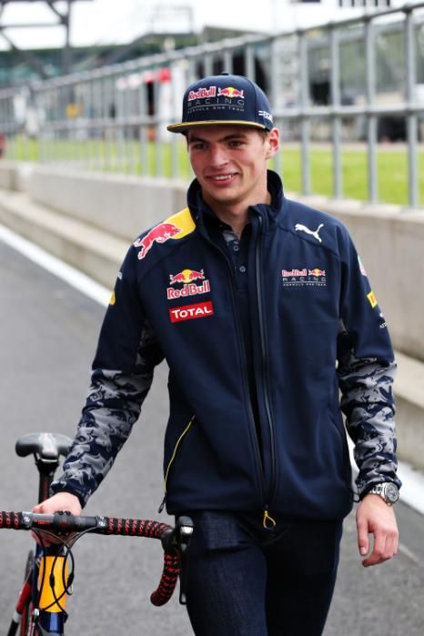 #F1 Pilot Max Verstappen ahead of the Formula One Grand Prix of Great Britain at Silverstone